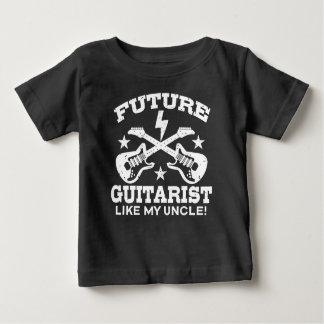 El guitarrista futuro tiene gusto de mi tío playera para bebé