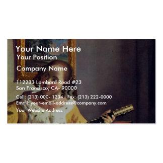 El guitarrista, por Vermeer Van Delft enero Tarjetas Personales