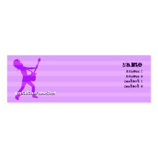 El guitarrista raya la púrpura - flaca tarjetas de negocios