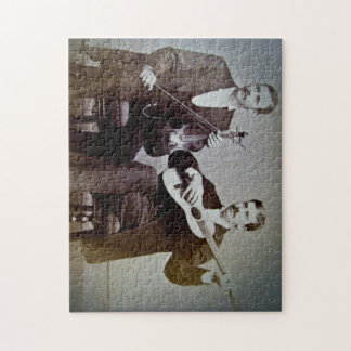 El guitarrista y el vintage del violinista puzzles con fotos