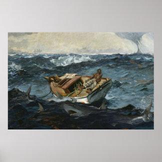 El Gulf Stream de Winslow Homer Póster