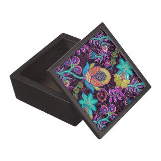 El gusano colorido entona el modelo de flores caja de regalo de calidad