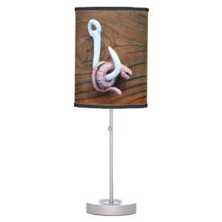 El gusano de resplandor lámpara de mesilla de noche