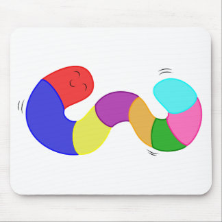 El gusano del meneo del arco iris embroma el cojín tapete de ratones
