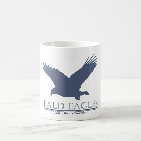 El gusto de Eagles calvo tiene gusto de América Taza De Café