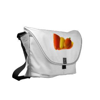El habanero blanco de tres conos sazona amarillo c bolsa de mensajería