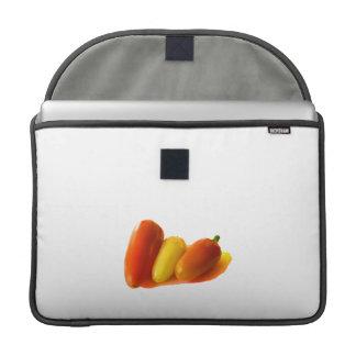El habanero blanco de tres conos sazona amarillo c fundas para macbook pro