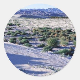 El hábitat para el valle Coachella franja-tocó con Pegatina Redonda