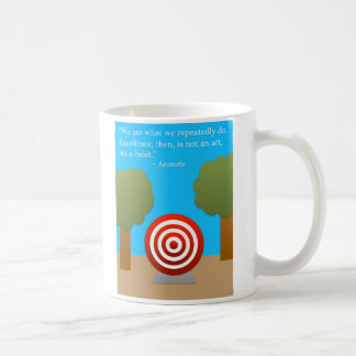 El hábito de la excelencia taza de café