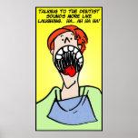 El hablar con el dentista posters
