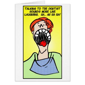 El hablar con el dentista tarjeta de felicitación
