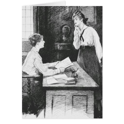 El hablar con el profesor tarjetas