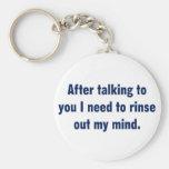 El hablar con usted hace que siente sucio llavero personalizado