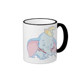 El hablar de Dumbo Dumbo y de Timothy Q. Mouse Taza De Dos Colores
