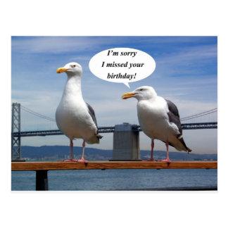 El hablar de las gaviotas tarjeta postal