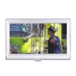 El hablar de los bomberos caja de tarjetas de visita