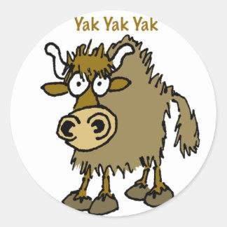 ¡El hablar de los YACS de los YACS de los YACS ES Pegatina Redonda