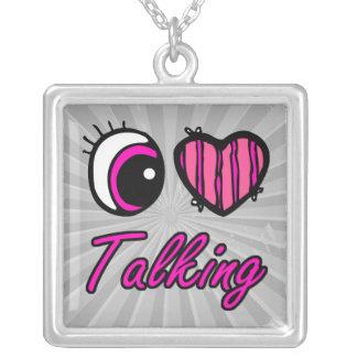 El hablar del amor del corazón I del ojo de Emo Colgante Cuadrado