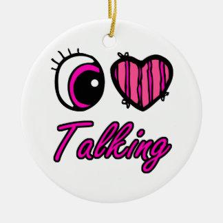 El hablar del amor del corazón I del ojo de Emo Adorno Redondo De Cerámica