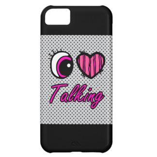 El hablar del amor del corazón I del ojo de Emo Funda Para iPhone 5C