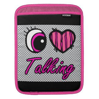 El hablar del amor del corazón I del ojo de Emo Mangas De iPad