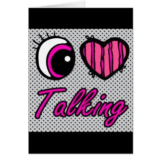 El hablar del amor del corazón I del ojo de Emo Tarjeta De Felicitación