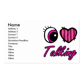 El hablar del amor del corazón I del ojo de Emo Tarjeta De Visita