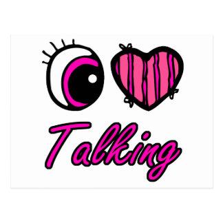 El hablar del amor del corazón I del ojo de Emo Postales