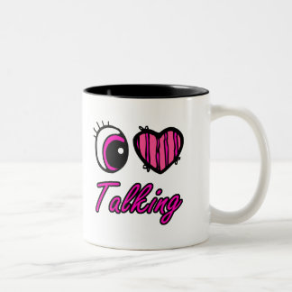 El hablar del amor del corazón I del ojo de Emo Taza Dos Tonos