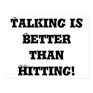 El hablar es mejor que golpeando - matón anti tarjetas postales