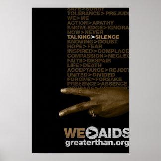 El hablar > poster de la muestra de la mano del si