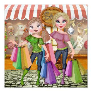 """El hacer compras: Ahorre la fecha"""" - SRF Invitación 13,3 Cm X 13,3cm"""
