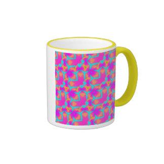 El hacer compras con choque taza de dos colores
