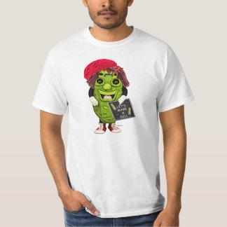 El hacer compras con la camiseta del eneldo del playeras