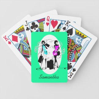 El hacer compras conocido femenino de los modelos  baraja cartas de poker