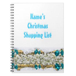 El hacer compras de las decoraciones de la nieve d cuaderno