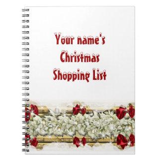 El hacer compras de las decoraciones de la nieve d libretas