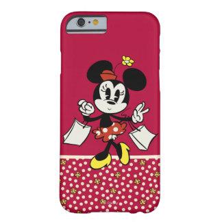 El hacer compras de Minnie Mouse Funda Barely There iPhone 6