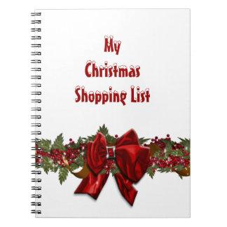 El hacer compras del navidad de la familia PERSONA Libreta