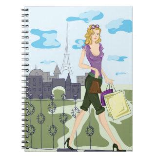 El hacer compras en el cuaderno de París