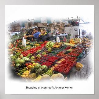 El hacer compras en el mercado de Atwater de Montr Impresiones