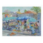 El HACER COMPRAS EN la postal de HAITÍ