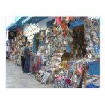 el hacer compras en un bazar en Túnez Tarjeta Postal