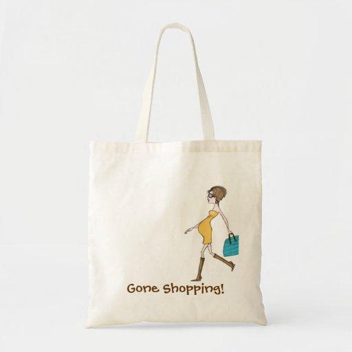 ¡El hacer compras ido! Bolsa Tela Barata