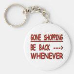 el hacer compras ido llavero personalizado