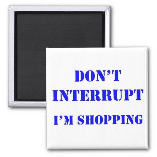 El hacer compras imán cuadrado