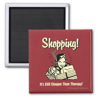 El hacer compras: Más barato que terapia Imán Cuadrado