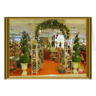 El hacer compras para el navidad tarjeta de felicitación