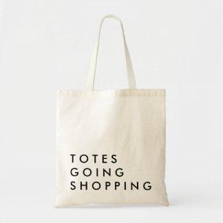 El hacer compras que va de los totes bolsa tela barata