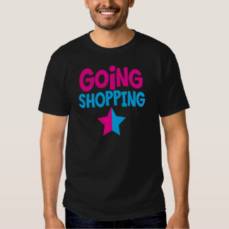 El hacer compras que va en rosa y azul playera